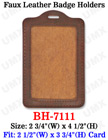 Fashion Leather ID Card Holders - Vertical Credit Card Size