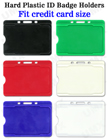 Hard Plastic Color Name Card Holders With Open Slots BH-910/Per-Piece