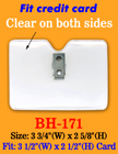 "Heavy-Duty, Clip-On Badge Holder: 3 1/2""(W)x 2 1/2""(H) Credit Card Size"
