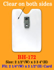 "Long Time Wear Clip-On Vertical ID Holder: 2 1/4""(W)x 3 1/2""(H) Credit Card Size BH-172/Bag-of-100Pcs"
