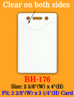 "Heavy Duty Vertical Identification Card Holder: 2 3/8""(W)x 3 1/4""(H) Credit Card Size BH-176/Bag-of-100PCS"