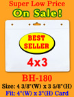 The Most Popular Low Cost Convention Badge Holder 4(w)x3(h)""