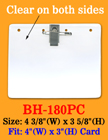 "Low Cost Clip-On & Pin-On ID Badge Holder: 4""(w)x3""(h)  With Badge Clip and Pin BH-180PC/Bag-of-100Pcs"