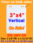 "Economy Exhibition Badge Holders - 3x4"" Vertical Style With 2 Holes BH-180V-2H/Bag-of-100Pcs"