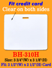 "Durable Horizontal Photo ID Holders: 3 1/2""(W)x 2 1/2""(H) Credit Card Size"