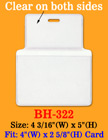 "Thick &  Heavy Duty Top Loading Name Tag Holder: 4""(W)x 2 5/8""(H)"