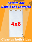 "4x8"" Super Large Badge Holders For Single & Double-End Lanyards"