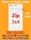 "Dust Protected Zip-Lock-Sealed ID Badge Holders: Fit 3""(w)x4""(h) Cards"