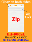 "Rain Drop Protected Badge Holder With Zip-Lock: Fit 3 3/4""(w)x5""(h) Badges BH-4060ZL/Per-Piece"