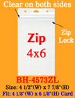 "Zip-Lock Ticket Holder: Fit 4""(w)x6""(h) Ticket or Name Badge BH-4573ZL/Per-Piece"
