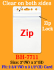 Zipper Badge Holders With Zip-Lock Protection On Top Of Holders BH-7711/Bag-of-100Pcs