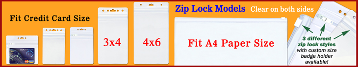 Ziplock Plastic Name Badge Holders, Plastic ID card Sleeves, Pouches and Plastic Bags