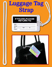 Luggage Tag Fasteners, Plastic Name Tag Straps, Bag ID Name Badge Tag Loop Fasteners ST-P6/Per-Piece