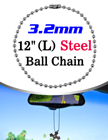 "Long Bag Tag Ball Chains: 12"" Name Tag Ball Chains"