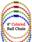 "Red, Blue, Green & Gold Color Luggage Tag Ball Chains: Wholesale 6"" Luggage Nametag Chains LY-706/Bag-of-10Pcs/Color-Models"