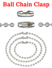 Ball Chain Connectors: Necklace Clasps Fit 2.4mm Metal Bead Balls Nickel Finish