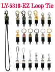 Ez-Metal Hardware Fasteners with Round Cord Loop Tie