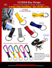 Short Key Straps: For Carabiners and Bolt Snap Hook Fasteners