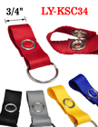 Fabric Key Ring Strap With Snap Closure: Fit A Variety Of Hardware Fasteners LY-KSC34/Per-Piece