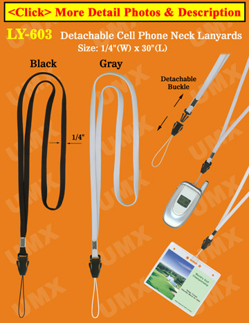 Cell Phone Straps: Cellular Neck Lanyards with Detachable Buckles