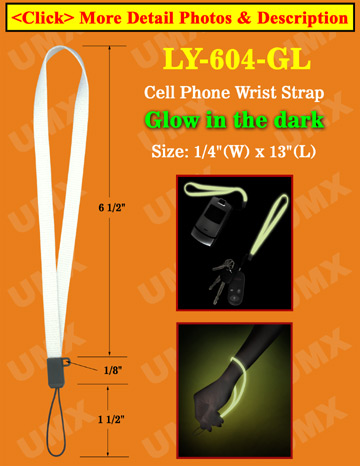 Glow In Dark Cell Phone Wrist Straps: Wholesale Cellular Phone Wrist Lanyards