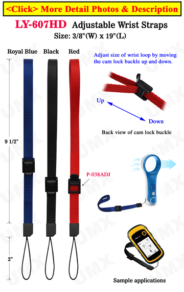 Adjustable Heavy Duty Wrist Straps: Water Friendly For Small Devices, Cell Phone or Tools