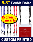 "5/8"" Economic Trade Show Lanyards - Custom Printed Lanyards With Two Ends"