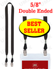 "5/8"" Economic Trade Show Lanyards - Bulk Plain Lanyard Supply LY-404E-DA-BC/Per-Piece"
