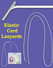 Elastic Lanyards: Wholesale: Stretchy Round Cords with Two-Ends and Two Metal Tips LY-EC32/Per-Piece