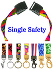 "5/8"" Ez-Adjustable Art Printed Safety Neck Lanyards With Safety Break Away Protection"