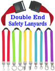 "5/8"" Ez-Adjustable Double End Plain Neck Lanyards With Two Attachments LY-503HD-DA-Ez/Per-Piece"