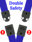 "5/8"" Ez-Adjustable Double Safety Neck Lanyards With Two Safety Break Away Buckles LY-503HD-DS-Ez/Per-Piece"