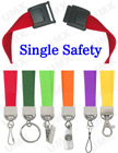 "5/8"" Ez-Adjustable Safety Neck Lanyards With Single Safety Breakaway Buckle LY-503HD-Ez/Per-Piece"