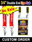 "3/4"" Full Color Custom ID Lanyards With 2 Badge Clips or 2 Hooks LY-405-DA-Dye-Sub/Per-Piece"