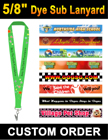 "5/8"" Full Color Dye Sub Lanyards with Custom Logo Printed LY-404-Dye-Sub/Per-Piece"