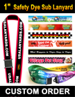 "1"" Neck Lanyards Breakaway Safety with Dye Sub Custom Printed Big Images LY-508-R-Dye-Sub/Per-Piece"