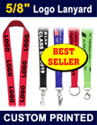 "5/8"" Best Seller Custom Logo Lanyards With Factory Direct Cheap Price"