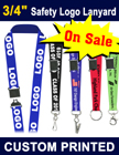 "3/4"" Custom Lanyards With Safety Breakaway Features"
