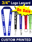 "3/4"" Screen Printed Lanyards With Customized Logos. LY-034/Per-Piece"