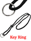 Braided Cord Breakaway Lanyards With Split Key Rings LY-411-RK01-23/Per-Piece