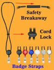Retractable Safety Cord Lanyards With Badge Straps