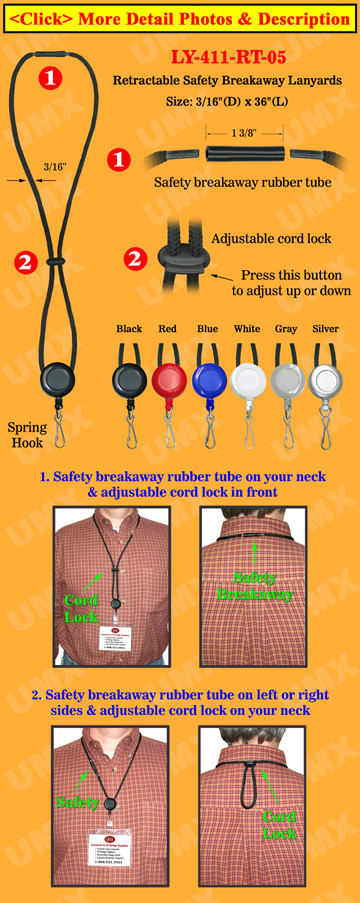 Retractable Spring Hook Safety Lanyards With Metal Hooks