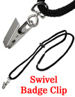 Safety Badge Lanyards with Name Badge Clips LY-411-BC-SW-402/Per-Piece