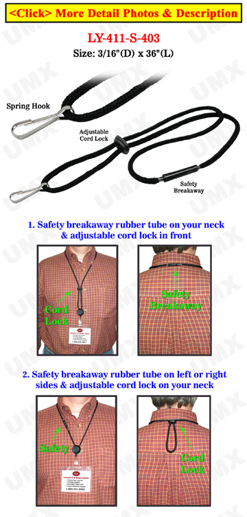 Safety ID Lanyards with ID Holder Hooks