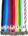 "LY-402-O 3/8"" Cotton Plain Lanyards With Badge Clips"