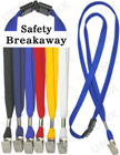 "LY-403-BC 3/8"" Safety Breakaway Blank Lanyards With Badge Clips LY-403-BC/Per-Piece"