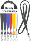 "LY-403-HK 3/8"" Safety Plain Color Lanyards With Swivel Hooks LY-403-HK/Per-Piece"