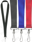 "LY-406HD-HK 1"" Wide & Thick  Heavy Duty Plain Lanyards with Swivel Hooks"