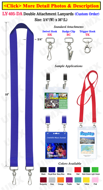 "3/4"" Conference Lanyards with Two Ends"
