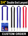 "3/4"" Conference Lanyards with Two Ends LY-405-DA/Per-Piece"